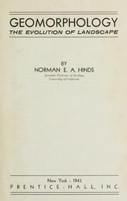 Cover of: Geomorphology | Norman E. A. Hinds