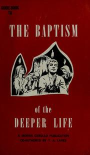 Cover of: Guide book to the baptism of the deeper life | Morris Cerullo