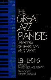 Cover of: The Great jazz pianists | Leonard Lyons