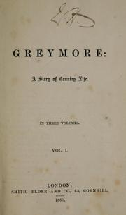 Cover of: Greymore | Church, A. B. Mrs.