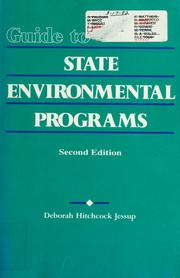 Cover of: Guide to state environmental programs | Deborah Hitchcock Jessup