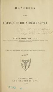 Cover of: Handbook of the diseases of the nervous system | Ross, James