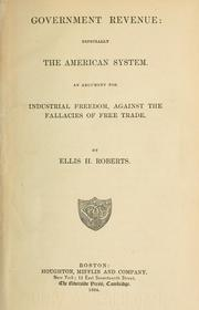 Cover of: Government revenue, especially the American system. | Ellis H. Roberts