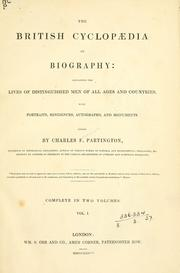 Cover of: British cyclopaedia of biography | Charles Frederick Partington