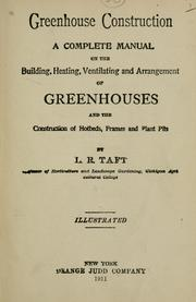 Cover of: Greenhouse construction by Levi Rawson Taft