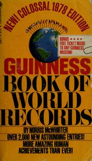 Cover of: Guinness book of world records, 1978 | Norris McWhirter