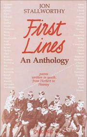 Cover of: First Lines | Jon Stallworthy