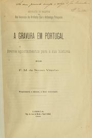 Cover of: A gravura em Portuga | Sousa Viterbo, Francisco Marques de