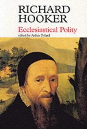 Cover of: Ecclesiastical Polity