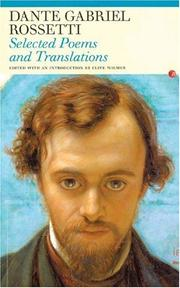 Cover of: Selected Poems and Translations: Dante Gabriel Rossetti