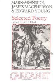 Cover of: Selected poetry