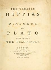 Cover of: The greater Hippias | Plato