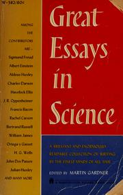 Great Essays In Science  Edition  Open Library Great Essays In Science