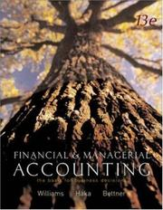 MP Financial and Managerial Accounting by Jan Williams, Sue Haka, Mark S Bettner