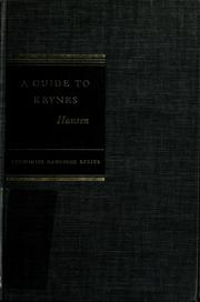 Cover of: A Guide to Keynes | Alvin H. Hansen