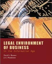 Cover of: Legal environment of buisness in the information age