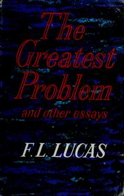 Cover of: The greatest problem