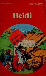 Cover of: Heidi | Johanna Spyri