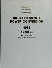 Cover of: High frequency power conversion |