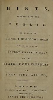 Cover of: Hints | Sinclair, John Sir