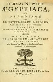 Cover of: Hermanni Witsii Aegyptiaca et Dekaphylon by Herman Witsius