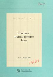 Cover of: Hawkesbury Water Treatment Plant--Drinking Water Surveillance Program, annual report. | Ontario. Drinking Water Surveillance Program.