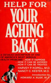 Cover of: Help for your aching back! | Harvey P. Kopell