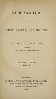 Cover of: High and low; or, Life