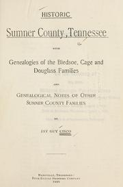 Cover of: Historic Sumner County, Tennessee | Jay Guy Cisco