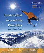 Cover of: Fundamental Accounting Principles Vol. 1