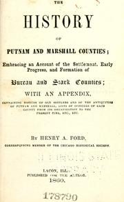 Cover of: history of Putnam and Marshall counties | Henry Allen Ford