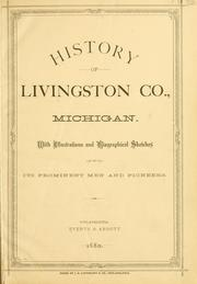 Cover of: History of Livingston Co., Michigan. |