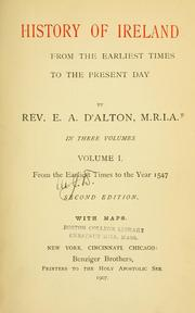 Cover of: History of Ireland | E. A. D'Alton