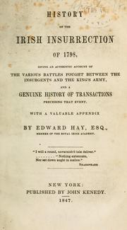 History of the Irish insurrection of 1798