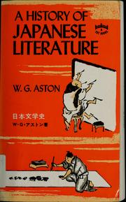 Cover of: A history of Japanese literature | W.G. Aston
