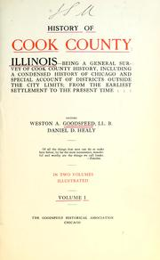 Cover of: History of Cook County, Illinois-- | Weston Arthur Goodspeed