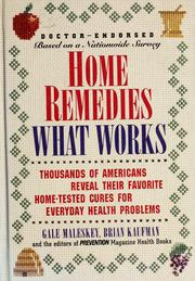 Cover of: Home remedies