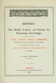 History of the Belfast Library and Society for Promoting Knowledge
