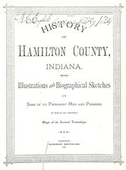 Cover of: History of Hamilton County, Indiana | Thomas B. Helm