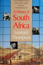 Cover of: History of South Africa | Leonard Monteath Thompson