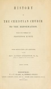 Cover of: History of the Christian church | J. H. Kurtz