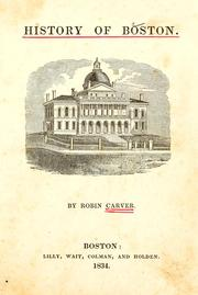 Cover of: History of Boston | Robin Carver