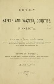 Cover of: History of Steele and Waseca counties, Minnesota |