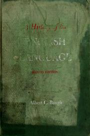 Cover of: A history of the English language. | Albert Croll Baugh
