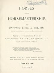 Horses and horsemastership