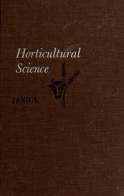 Cover of: Horticultural science | Jules Janick