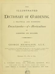 Cover of: The Illustrated dictionary of gardening |