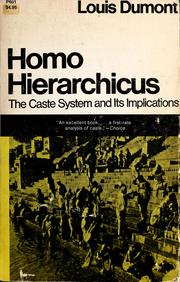 Cover of: Homo hierarchicus | Louis Dumont