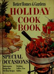 Cover of: Holiday cook book |