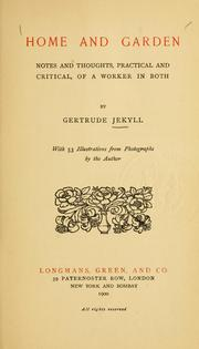 Cover of: Home and garden | Gertrude Jekyll